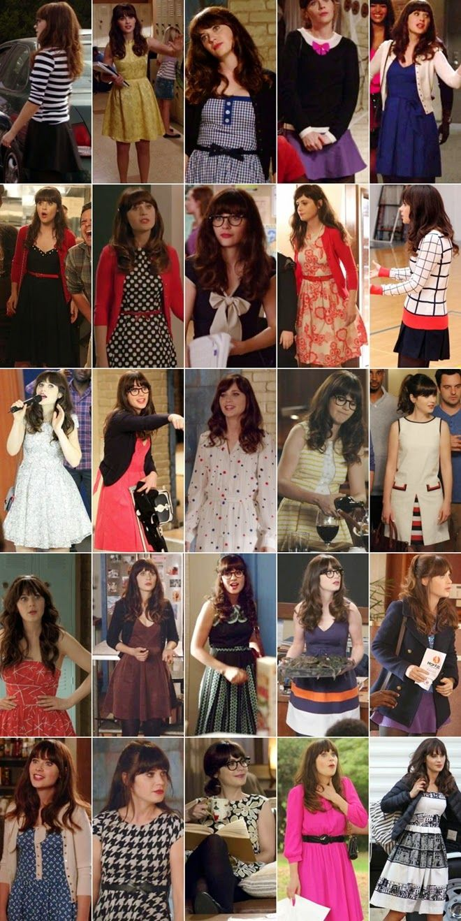 character fashion jessica daynew girl zooey deschanel