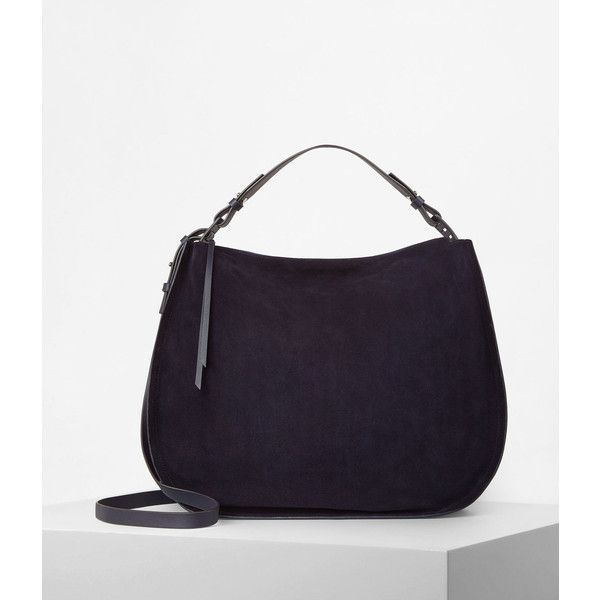 Allsaints Kanda Large Suede Hobo Bag 348 Liked On Polyvore Featuring Bags
