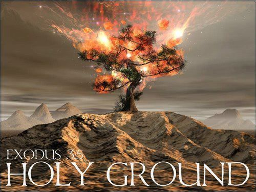 """Exodus 3:5 """"Do not come any closer,"""" the Lord warned. """"Take off your sandals, for you are standing on holy g…   Prophetic art, Prophetic painting,  Bible inspiration"""