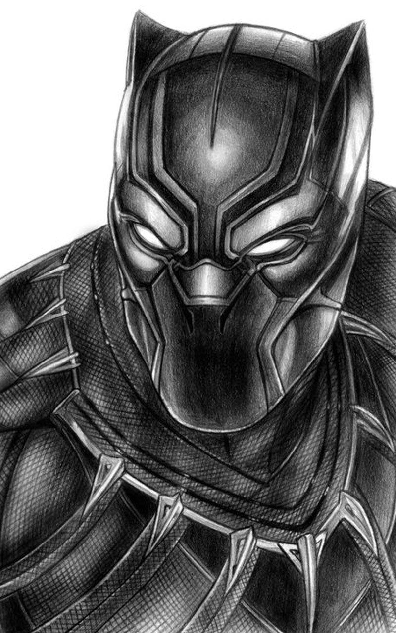 Black Panther Black Panther Drawing Marvel Drawings Black