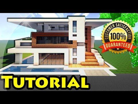 Minecraft Easy Modern House Mansion Tutorial DOWNLOAD - Minecraft moderne hauser download