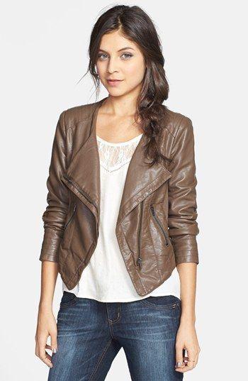 Thread Amp Supply Faux Leather Moto Jacket Fashion