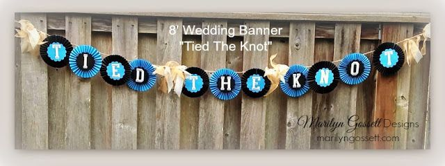 Wedding banner using Deflecto Crafts Sign & Banner Hangers by @ctzmarilyn