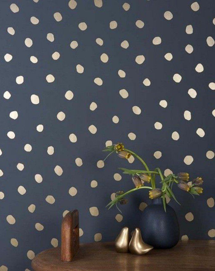 les papiers peints design en 80 photos magnifiques color. Black Bedroom Furniture Sets. Home Design Ideas