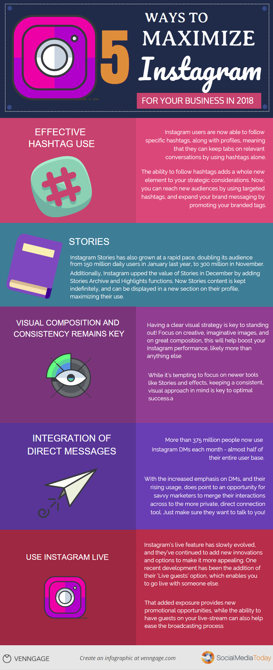 How To Maximize Your Instagram Campaign 5 Smart Ideas Infographic Maddy Osma Instagram Marketing Tips Marketing Strategy Social Media Instagram Marketing