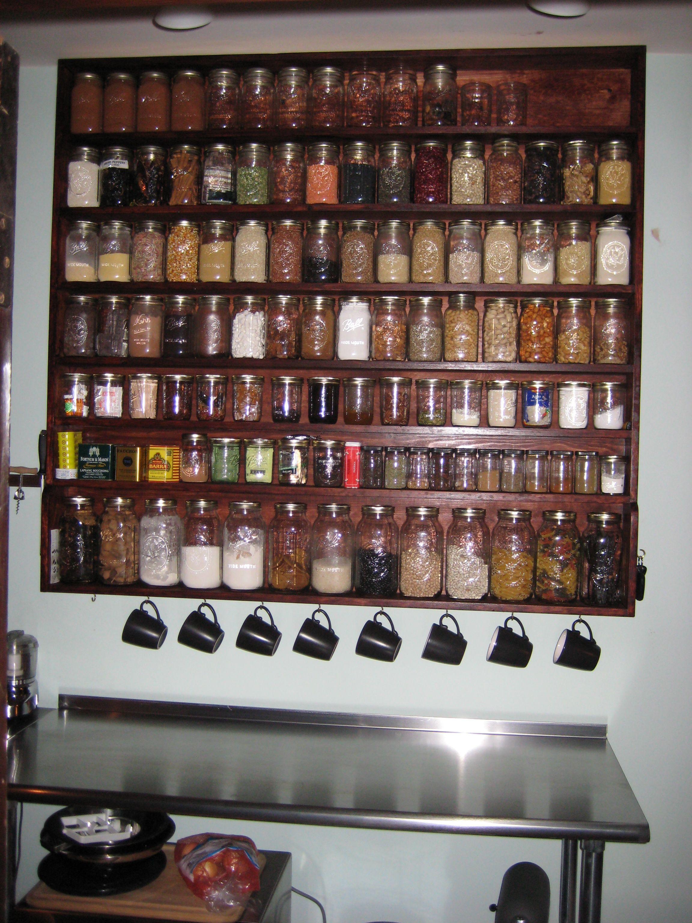 Levy mason jar rack Tiny House Kitchen Pinterest Tiny