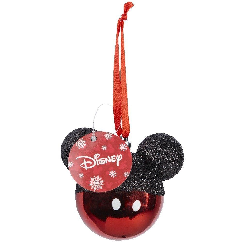 Boule De Noel Tete De Mickey Rouge Et Noire Disney Deco Noel Sapin Boule De Noel Disney Et Noel Mickey