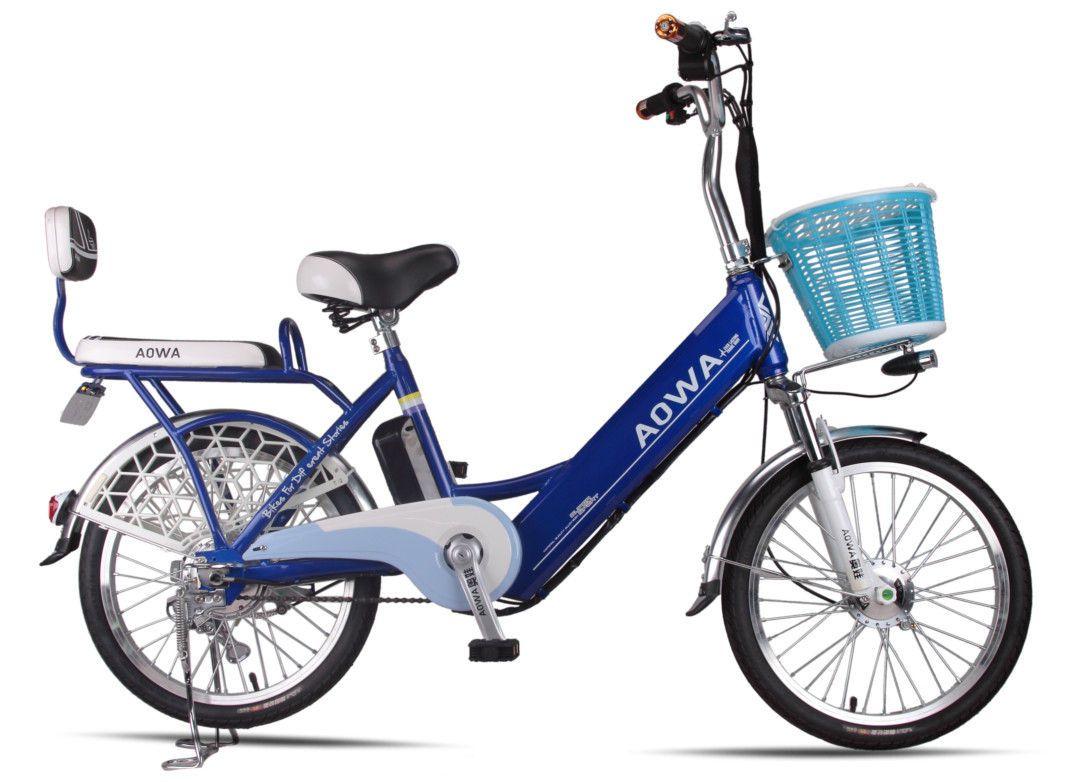 24 Aluminum Rims Lithium Single Speed City Bike Blue