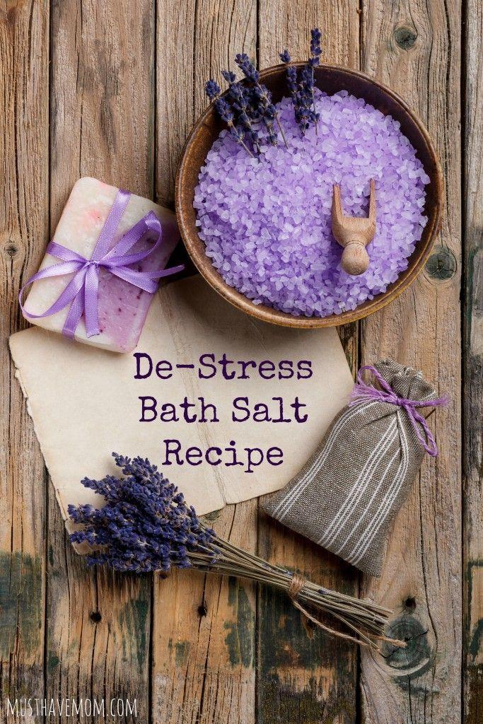 Easy Diy Lavender Bath Salts For Gifts Health Benefits Recipe Diy Bath Products Bath Salts Bath Salts Diy