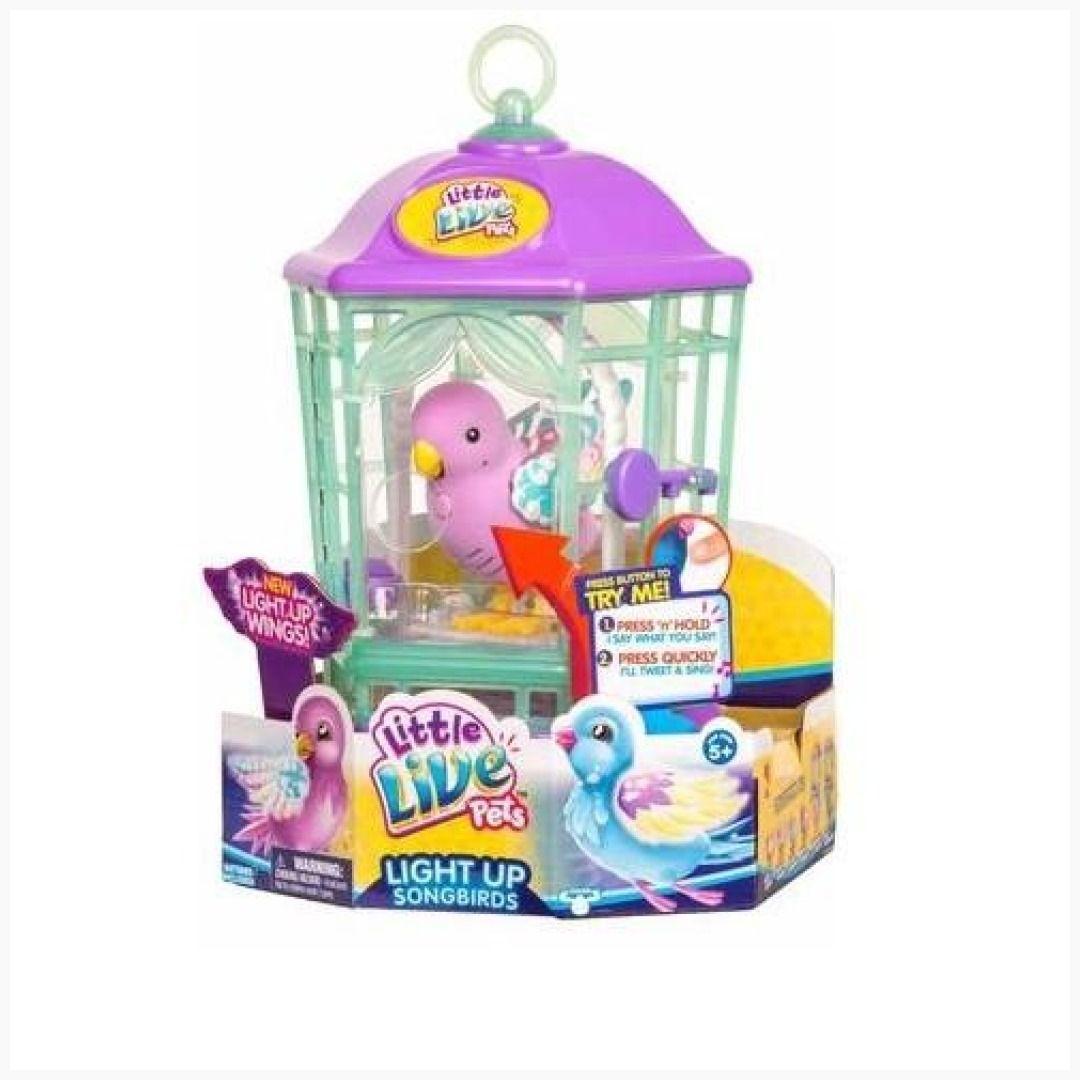 Little Live Pets Bird With Cage Rainbow Glow Funko Toyshnip
