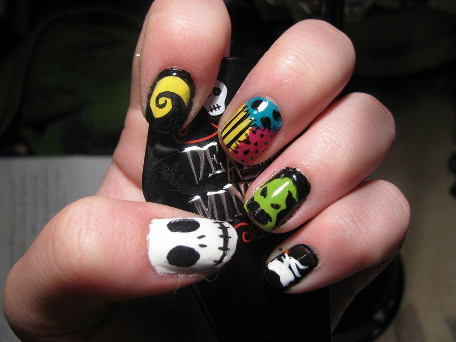 More awesome Nightmare Before Christmas nail art. - Nightmare Before Christmas Nails By Lilyskellington.deviantart.com
