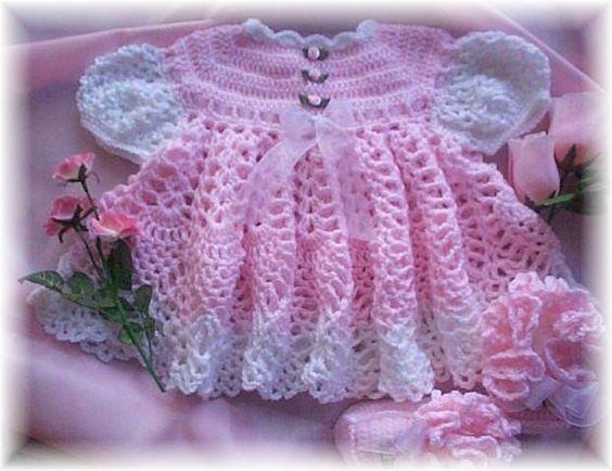 Free Fancy Crochet Baby Dress Patterns Baby Crochet Dress Pattern