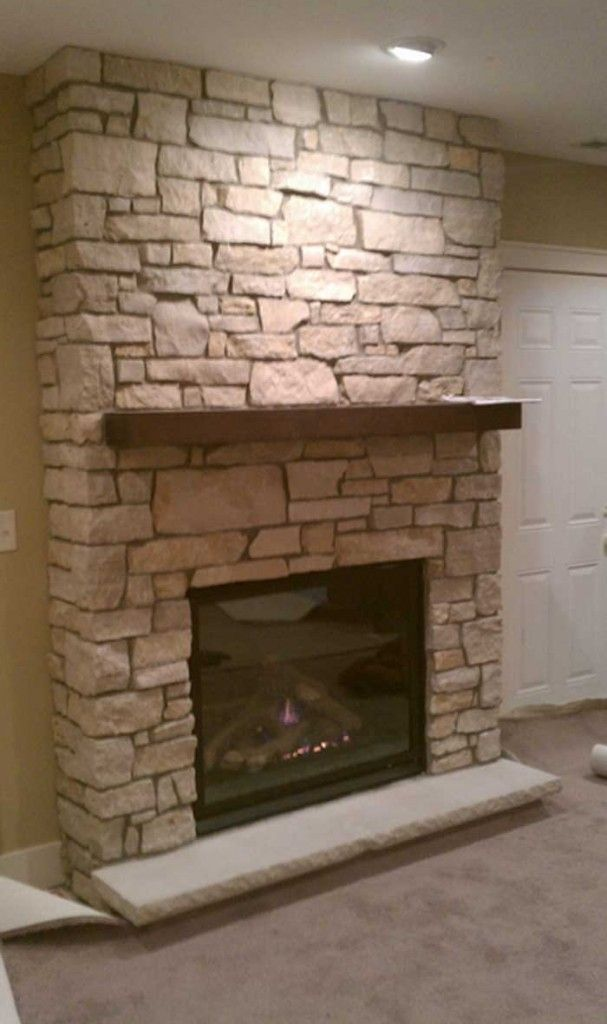 Fireplace Design stacked stone fireplace surround : Keep molding/casing around fireplace but maybe replace the tiles ...