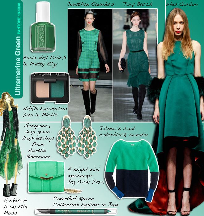Ultramarine Green | Color trends fashion, Style, Fashion