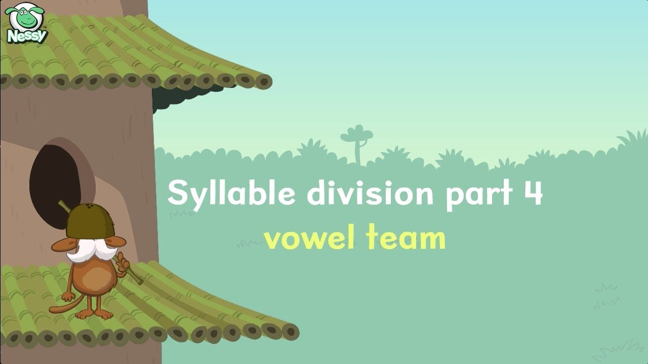 Nessy Syllable Division #4 - Vowel Teams | Language Arts Videos