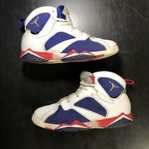ed62d66b9f82 Nike Air Jordan VII 7 Retro Olympic Red White Blue Size 3Y Youth  (304773-133)
