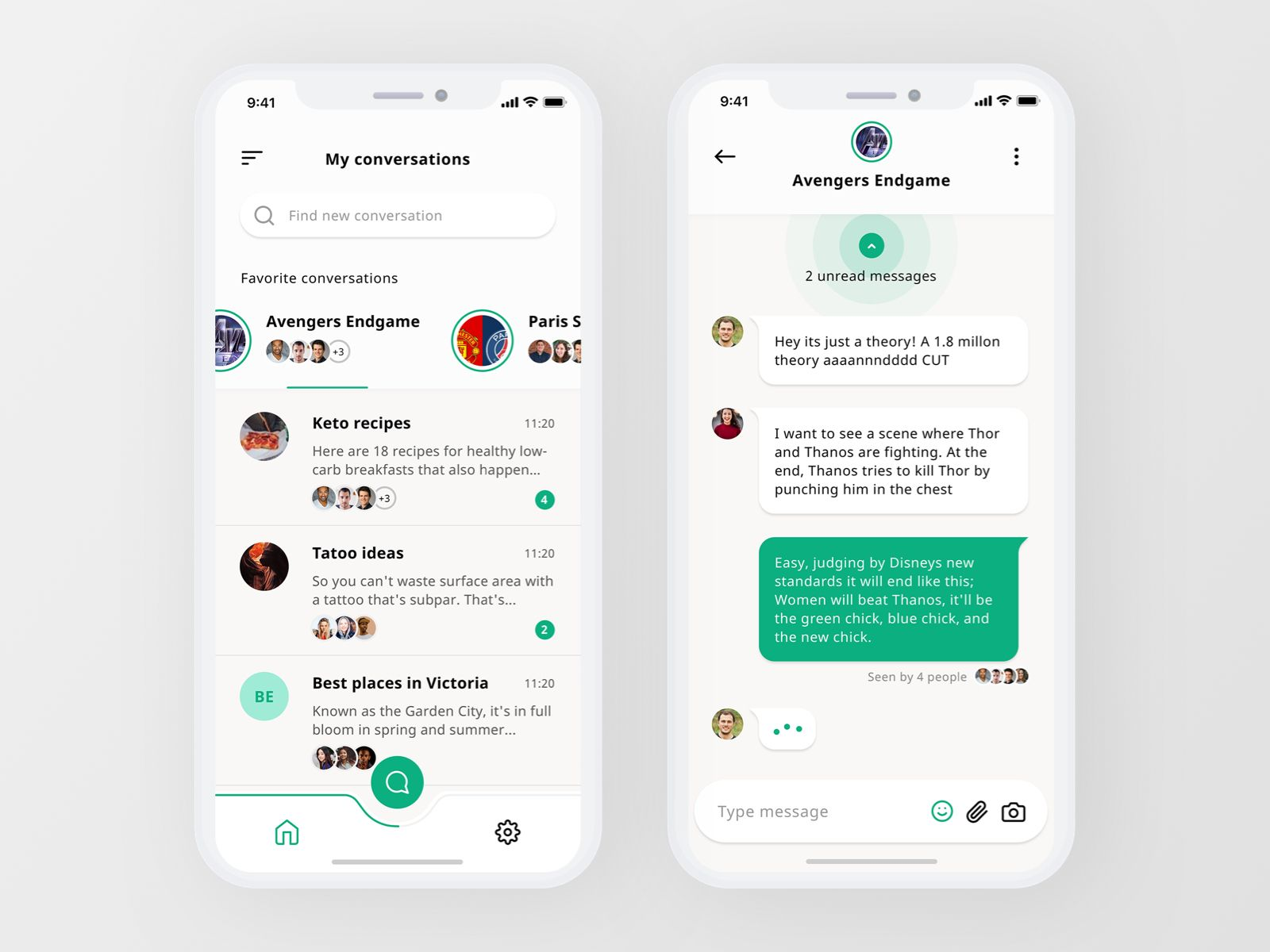 Group chat app Chat app, Android design, App