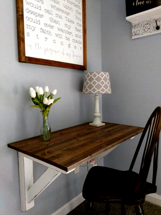 If You Dont Have An Entire Room As Your Office But Just A Small Space Available This Diy Corner Desk Would B In 2020 Diy Computer Desk Diy Corner Desk Kids
