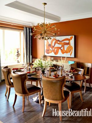 An Andy Warholinspired Apartment  Orange Dining Room Orange Adorable Orange Dining Room Table Inspiration