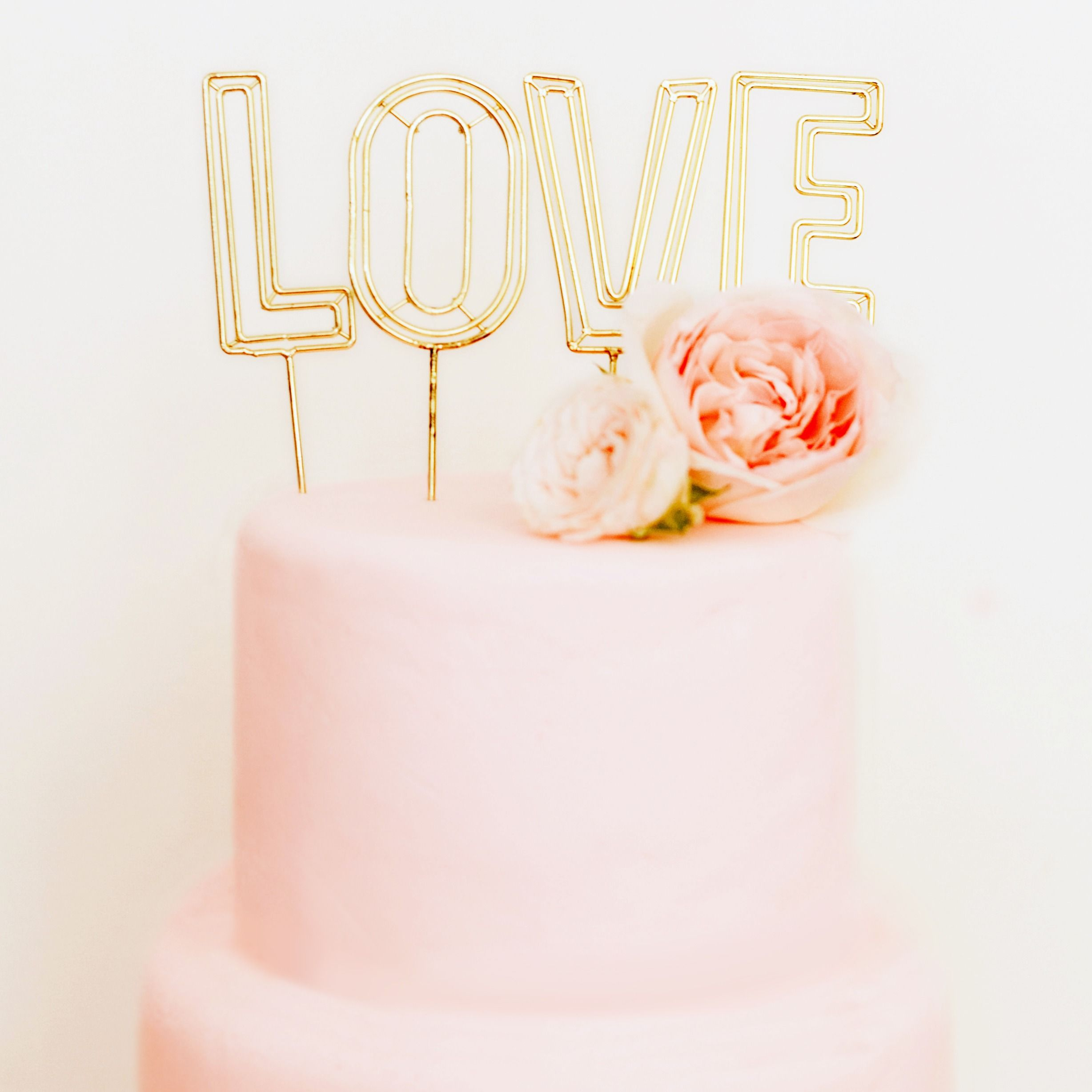 Style Me Pretty Love Lettering Cake Toppers Gold Cake Topper Edible Glitter Dust Cake Toppers