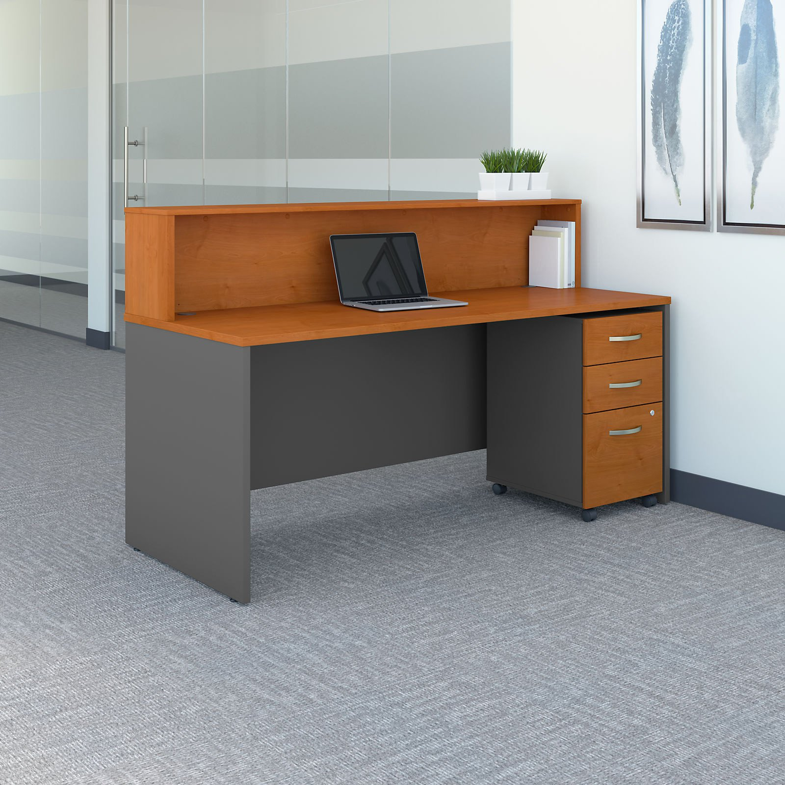 Bush Business Furniture Series C 72 In Reception Desk With Mobile