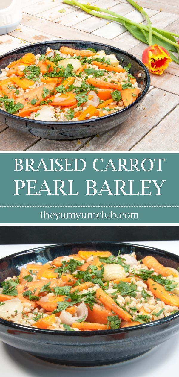 Braised Carrot Pearl Barley Salad