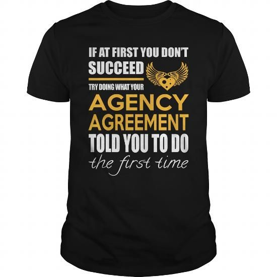 Cool AGENCY AGREEMENT Tees Office, Business, and Workplace 1 t - business agency agreement