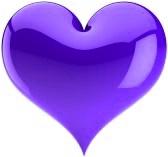 Purple Heart Colorful Heart Purple Heart Shapes