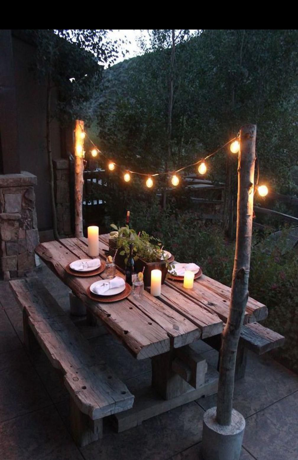 Eclairage Terrasse Bois Lanterne Exterieur Lumiere Jardin Idee Luminaire Pas Cher Spots Led So In 2020 Outdoor Dining Spaces Outdoor Deck Lighting Outdoor Dining Table