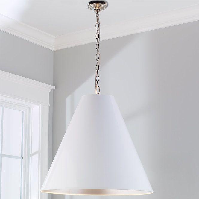 Oversized Cone Paper Shade Pendant Large Pendant Lighting White Pendant Light Pendant Light Shades