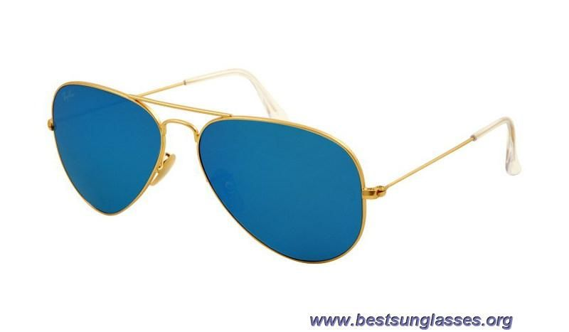 3901f7056 Cheap 2014 New Ray Ban RB3025 Aviator Large Metal Gold Blue Mirror  Sunglasses Sale