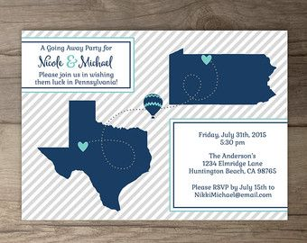 Going Away Party Invitations Goodbye Party Invites Moving