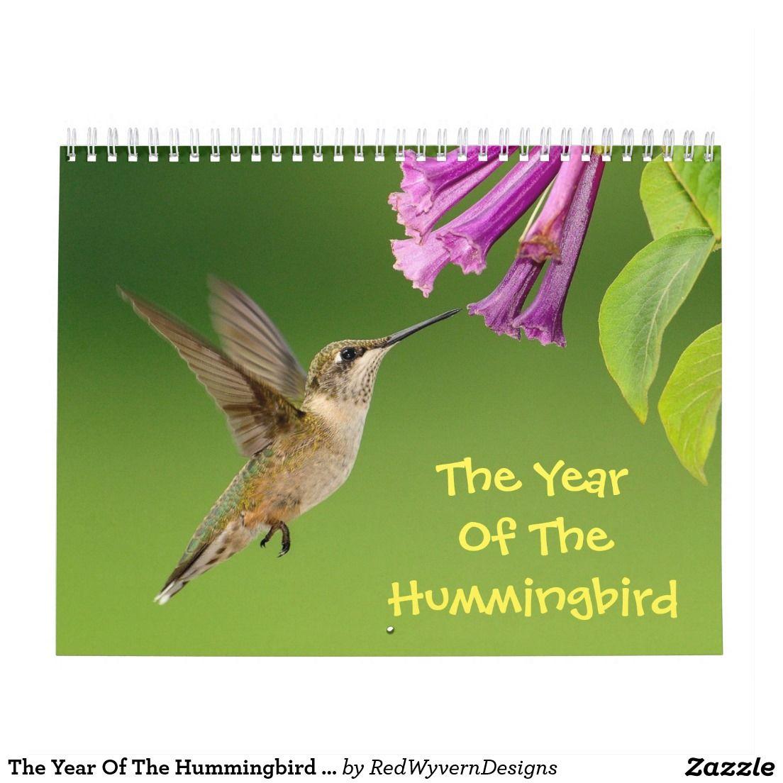 The Year Of The Hummingbird Calendar