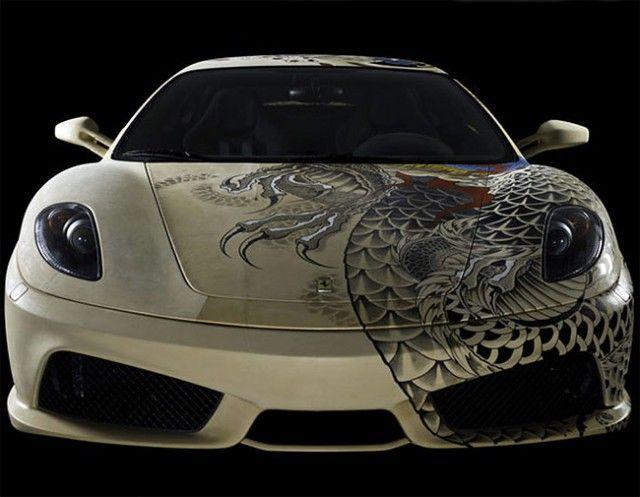 Tattooed Ferrari Ferrari F430 Ferrari Car Paint Jobs