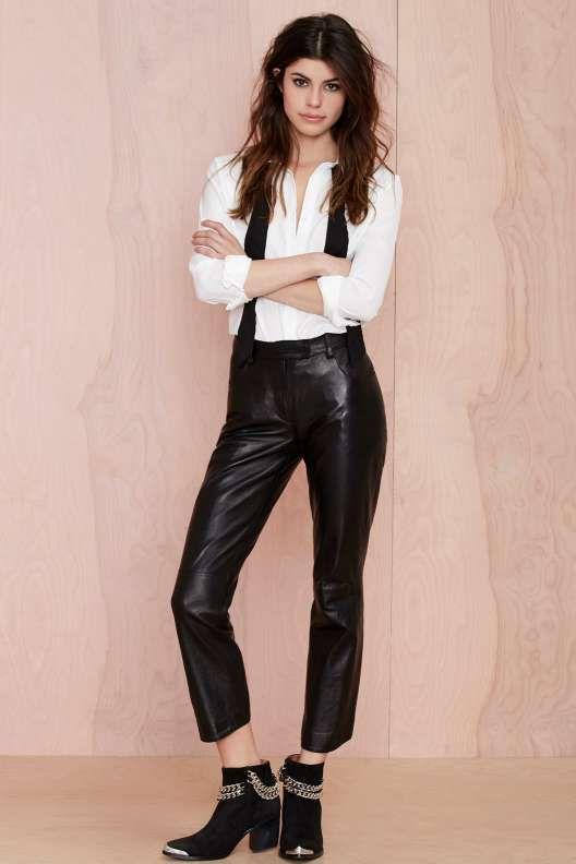 Vintage Prada Bombs Away Leather Pants - Vintage