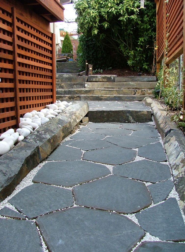 Our Hexagon Basalt Pavers Are Sliced From Whole Basalt Columns At 1