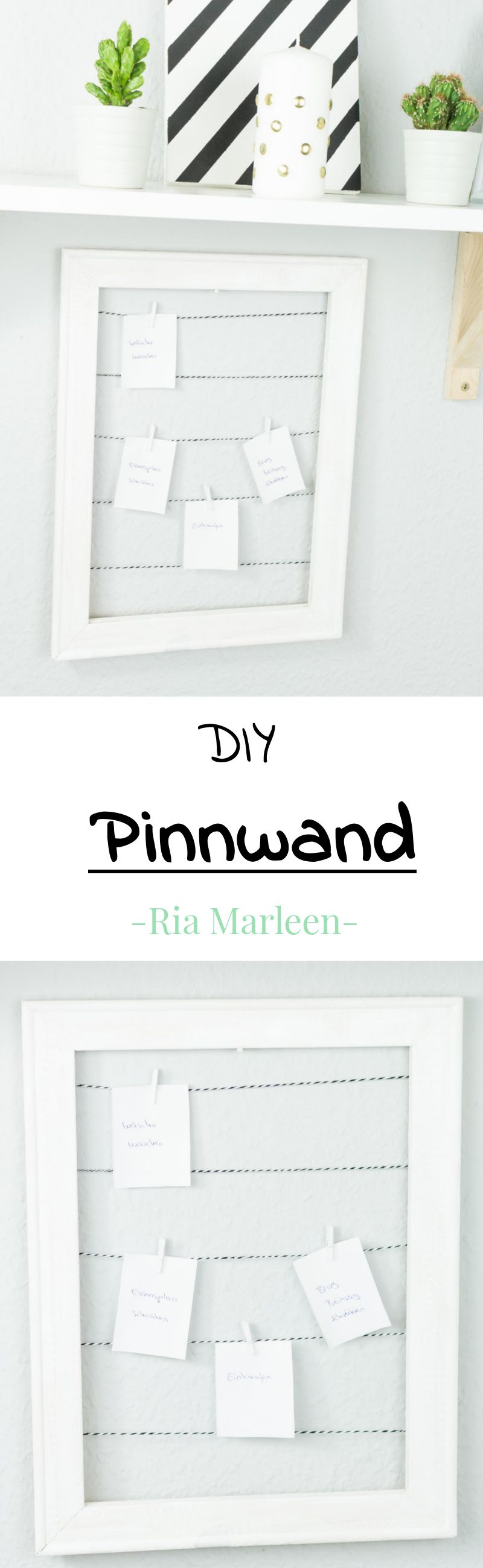 DIY Pinnwand aus Holzrahmen basteln - schnelle Upcycling Idee | DIY ...