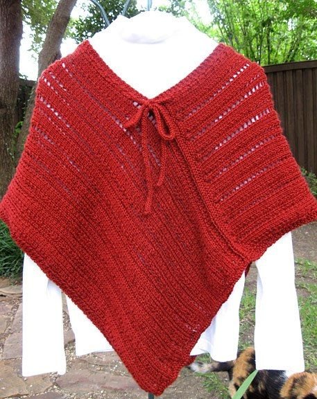 Easy To Knit Poncho Maybe Ill Make Pinterest Knitted