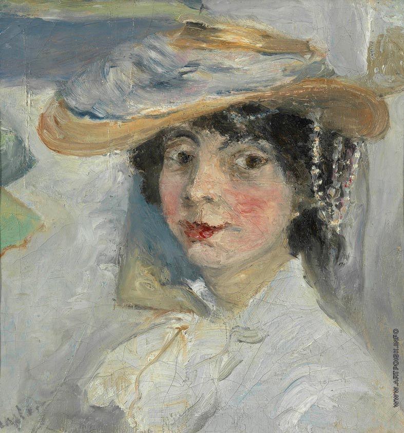 Ларионов - Портрет Натальи Гончаровой.