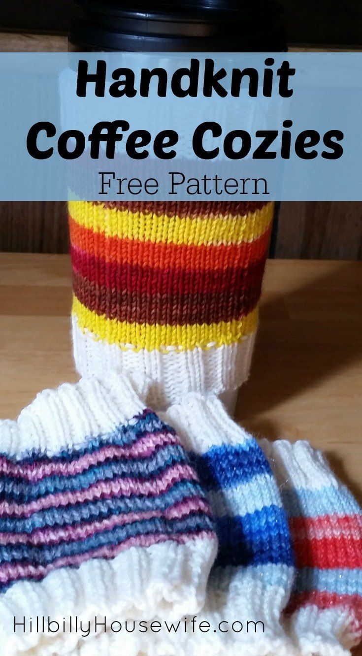 Easy Coffee Cozies Knitting Pattern | Coffee cozy, Free pattern and Cozy