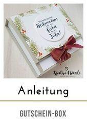 Photo of Box für Geschenkkarten oder ähnliches StampinUp! Anleitung # bunt #foto …