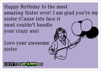 Funny sister birthday card funny pinterest funny sister funny sister birthday card bookmarktalkfo Choice Image