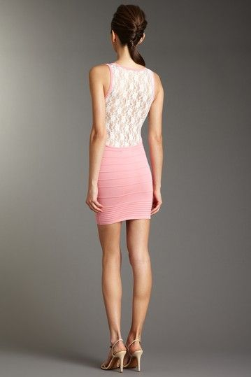 lack back $ side detailed bodycon dress