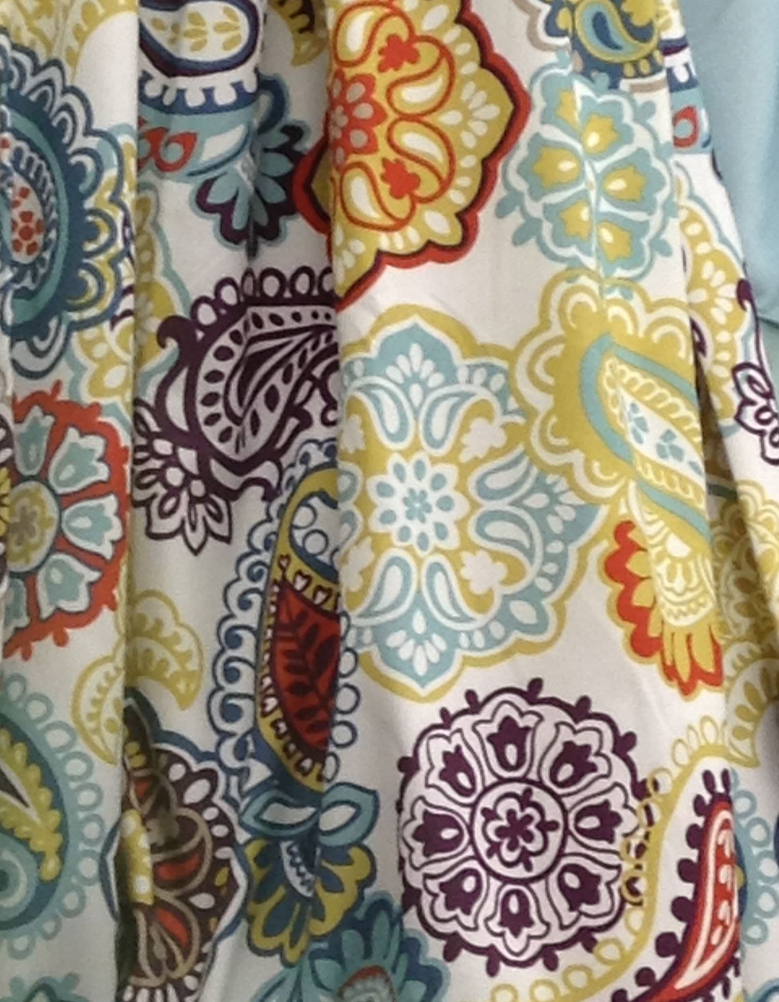 Another beautiful shower curtain made of a sturdy cotton in the ...