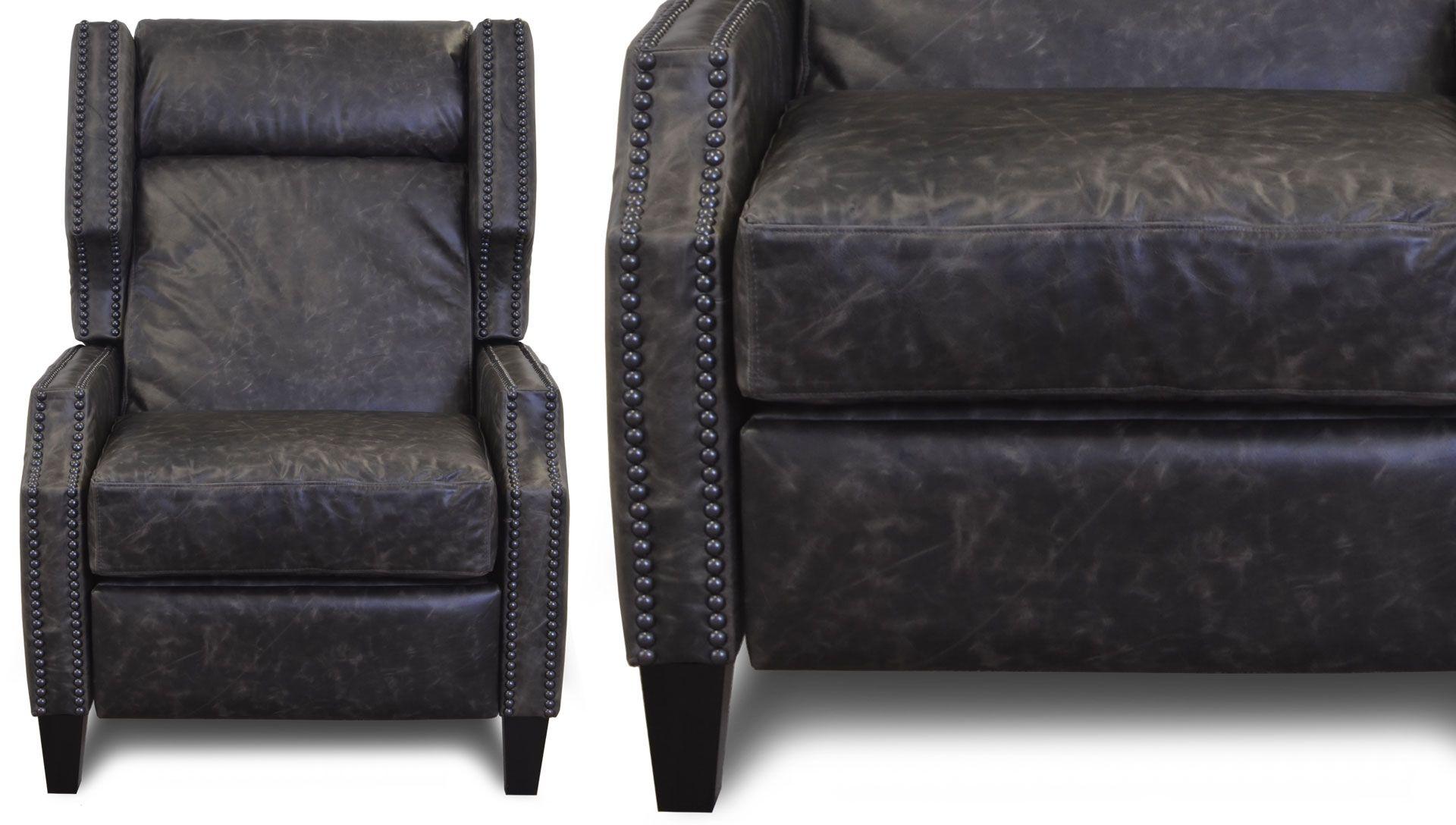 Knottsberry Push Back Recliner Leather Sofa Co
