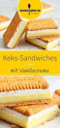 Schnelle Keks-Sandwiches mit Vanillecreme