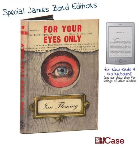 James Bond handmade cases for Kindle   Gifts for Book Lovers