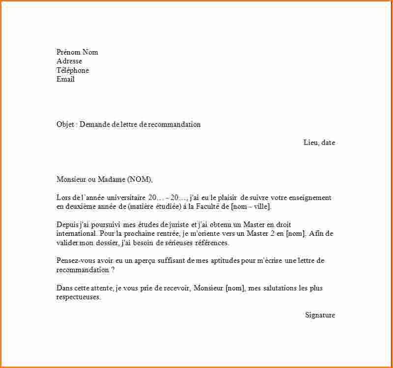 Lettre De Motivation Francais: Exemple Demande D'emploi Lovely Modele Lettre Recherche