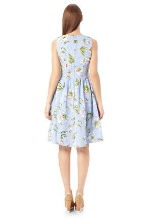 Spring Bloom Flared Dress - Dresses - French Connection