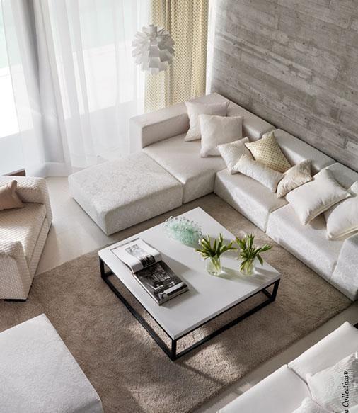 pur weißes wohnzimmer ecru kombination escksofa   wohnzimmer